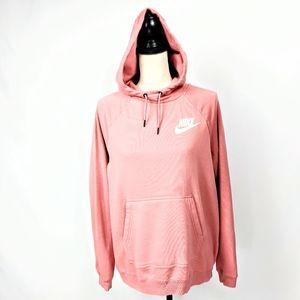 NWOT Nike Funnel Neck Hoodie Sweatshirt Pink M